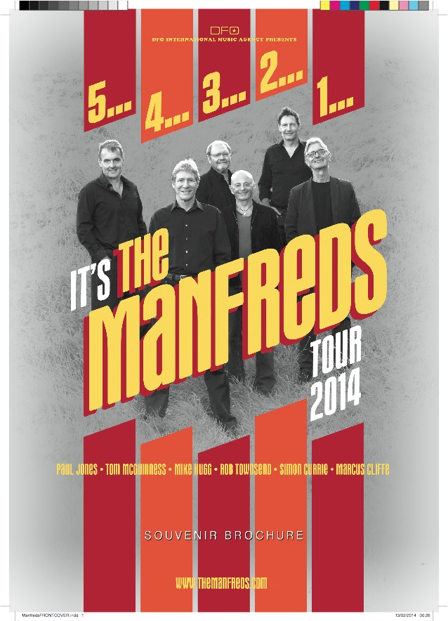 Its The Manfreds 2014 tour brochure